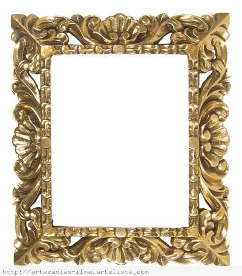 Marco colonial dorado ilma g a - Marcos de fotos dorados ...