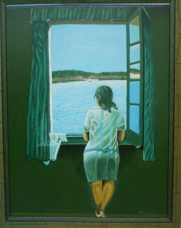 Mujer Mirando Al Mar Jose Exposito Lopez Artelista Com