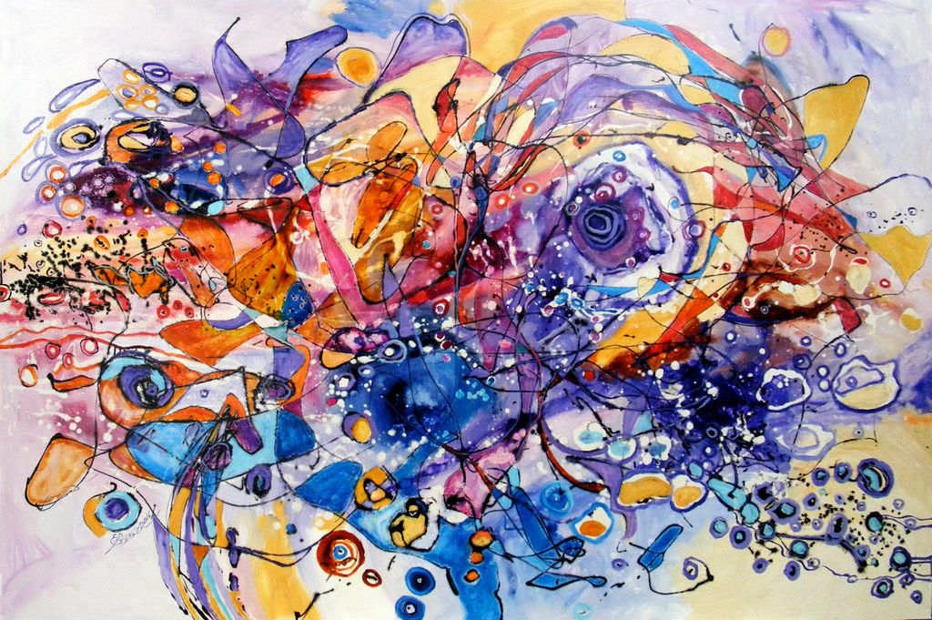 luna indragostita ,abstract by e.bissinger