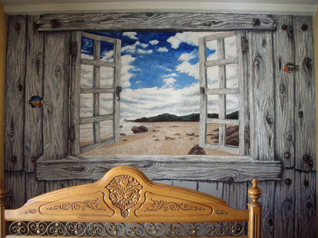 Mural De Mi Habitacion Alicia Ortiz Villalobos Artelista Com