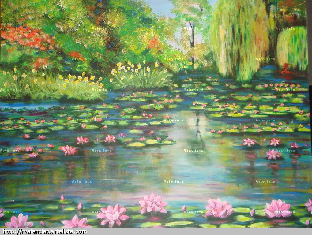 El estanque de los lotos angel rodrigo valencia toro for Pintura para estanques