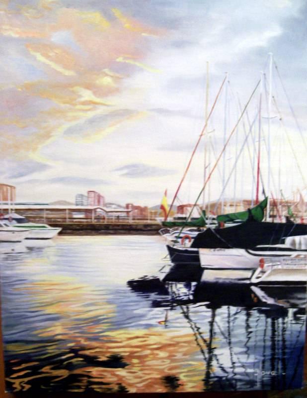 Puesta de sol en el puerto deportivo gijon rosa maria - Puerto deportivo gijon ...