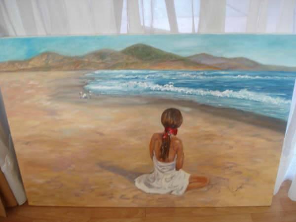 Mujer Mirando El Pacifico Karen Quiñones Escobar Artelista Com