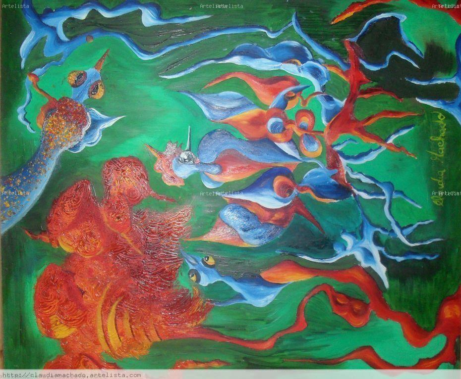 Noche verde claudia machado - Pintura instinto ...