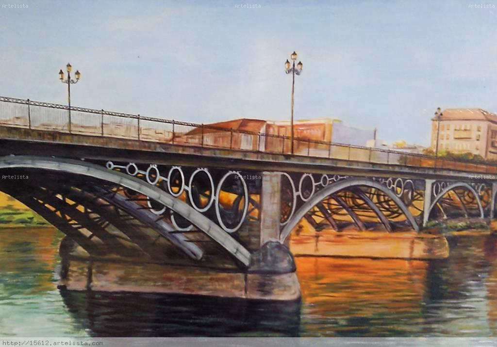 Puente de triana maril rivero silva for Todo pintura sevilla