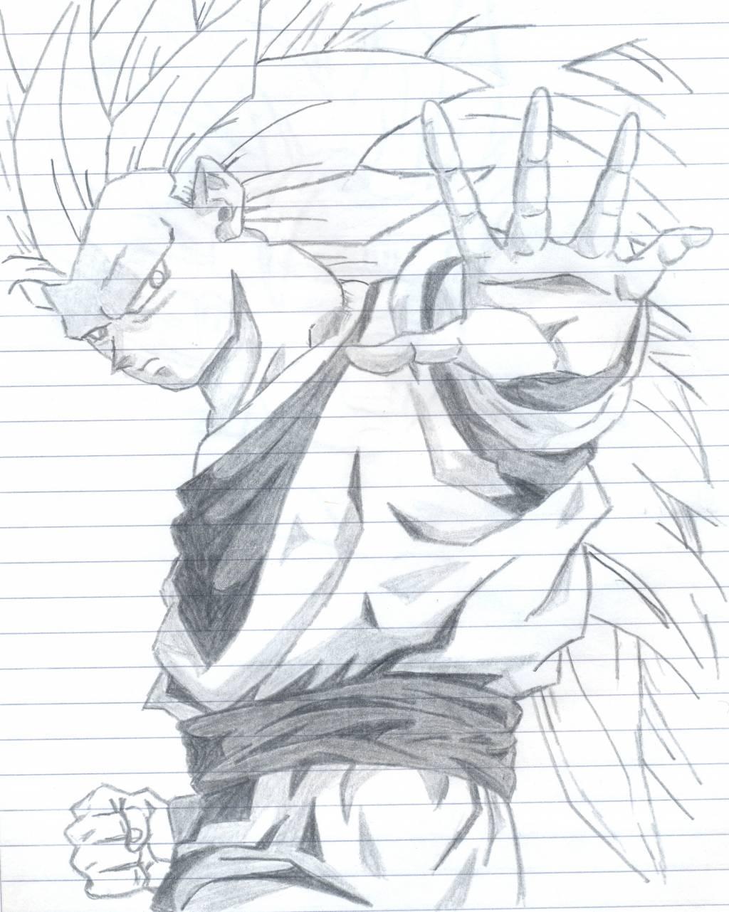 Dibujo de goku en lapiz - Imagui
