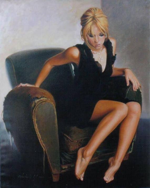 Shakira  pintada por Hendrick Gil