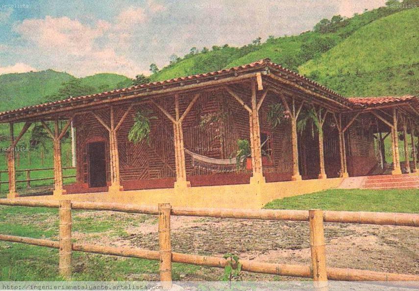 Casa en bamb gloria stella g mez s nchez - Casa de bambu madrid ...