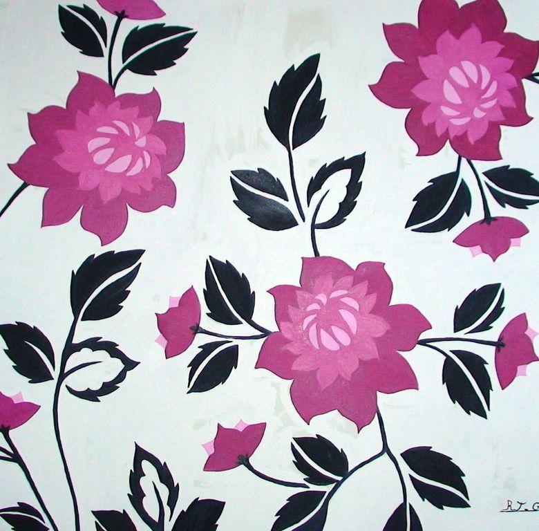 Mural De Flores Fussia Ramona Tijeras Garcia Artelistacom