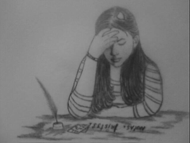 Dibujos a lapiz de personas tristes  Imagui