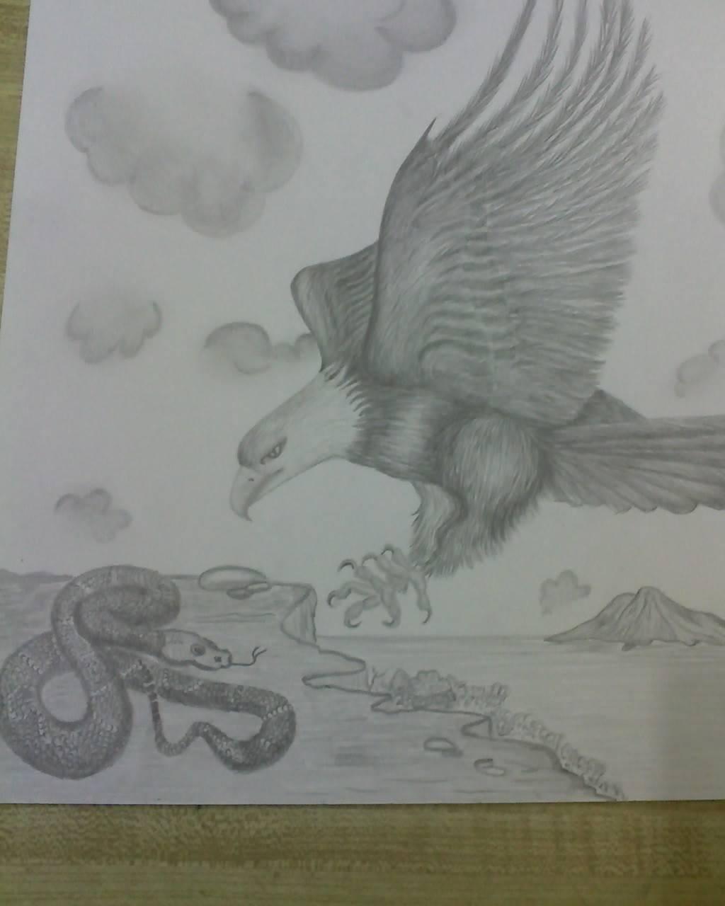 Aguila y Serpiente Ana Marìa Carrillo- Artelista.com