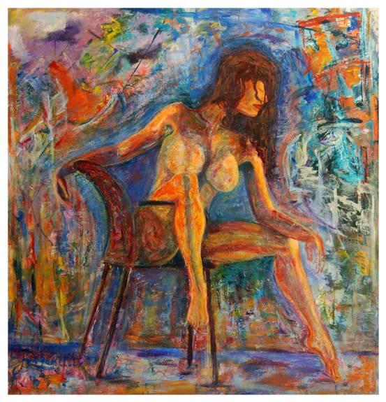 Desnudo en una silla