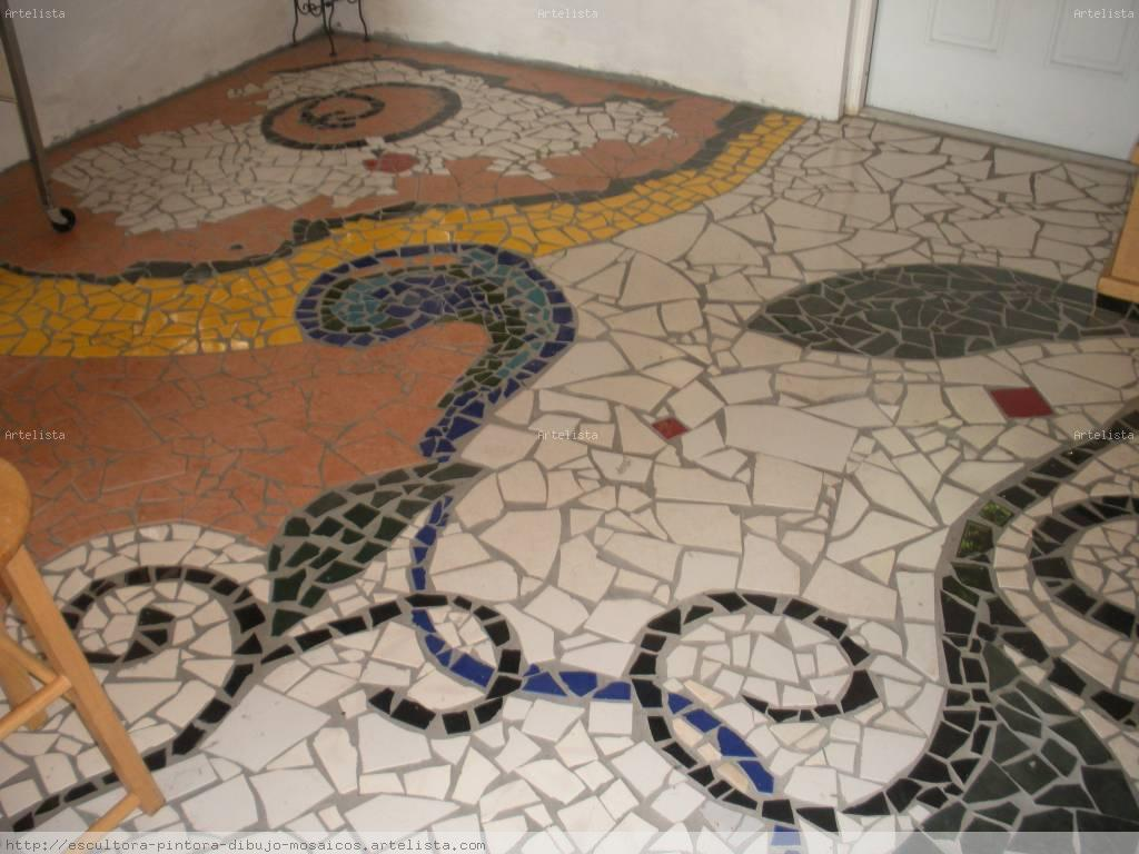 Mosaico ivette scull for Mosaico para piso