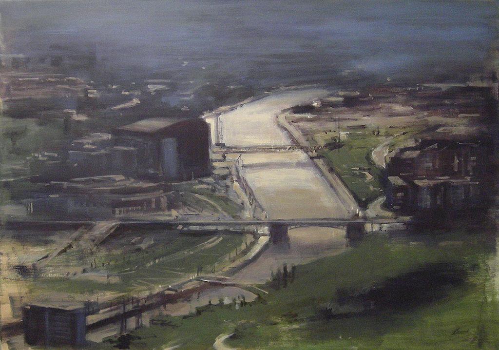R a con puentes 1 bilbao carmen larrauri - Pintores en bilbao ...