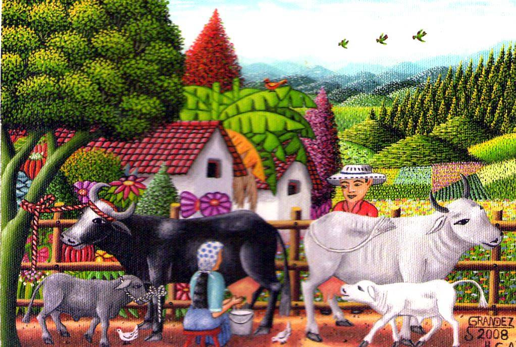 Ord ando la vaca pedro grandez - Cuadros de vacas ...