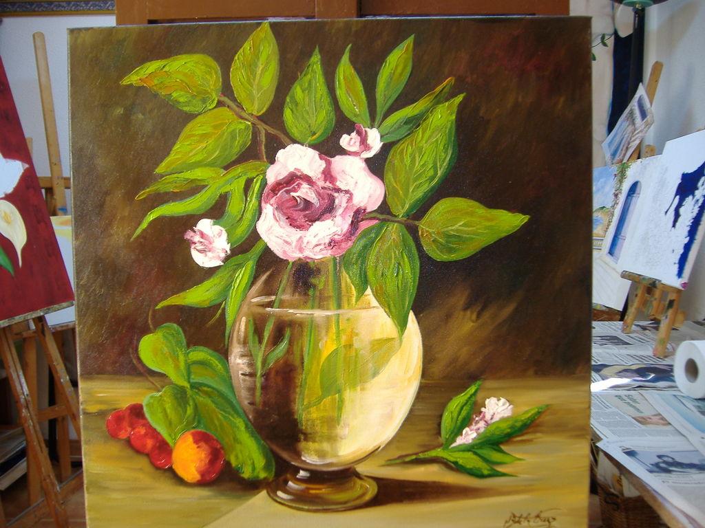 Bodeg n de flores y frutas maria de la cruz perez - Pinturas bodegones modernos ...