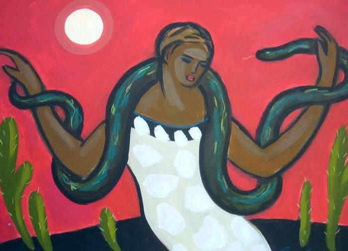 mujer y serpiente carmen garcia gordillo - Artelista.com