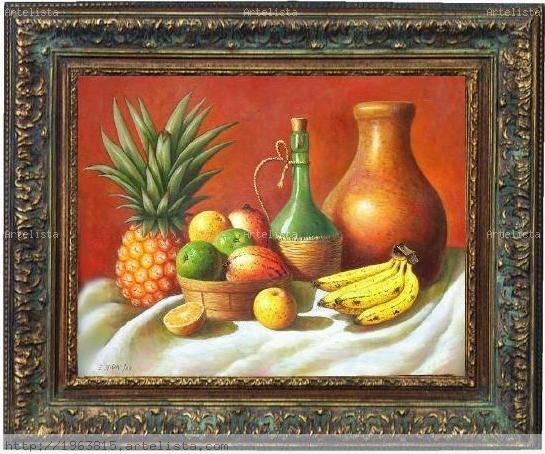Bodegon de frutas dominicanas y tinaja de barro eusebio - Fotos de bodegones de frutas ...