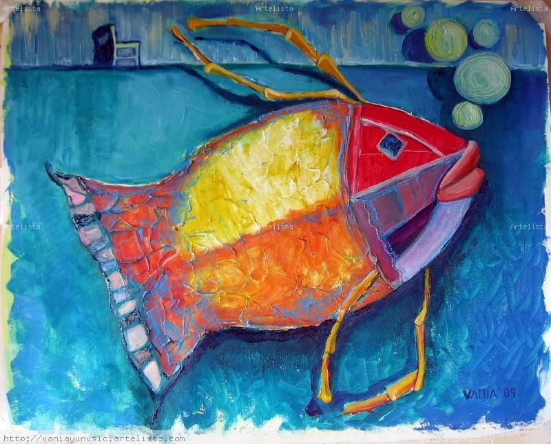 Pez collage 1 vania yunusic puelma for Pintura para estanques de peces
