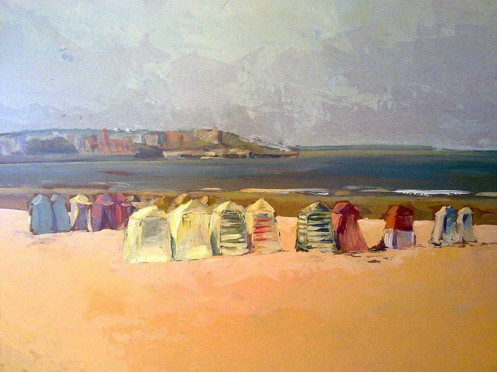 Playa de san lorenzo gij n jos manuel gogar - Pintores en gijon ...