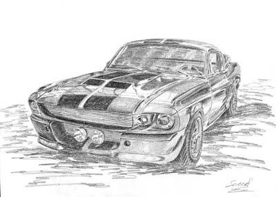 autos dibujados con lapiz