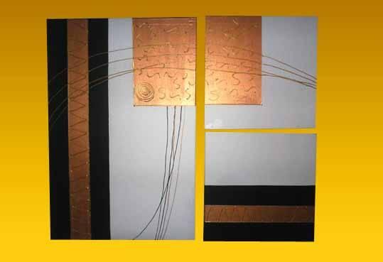 cuadros tripticos abstracto texturado 04 Pablo Bongiovanni- Artelista.