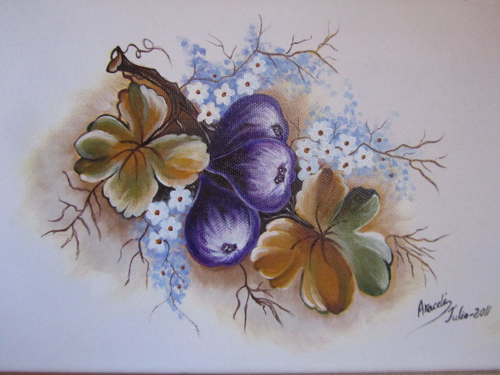Frutas y flores araceli torralvo alcobet - Cuadros de acrilico ...