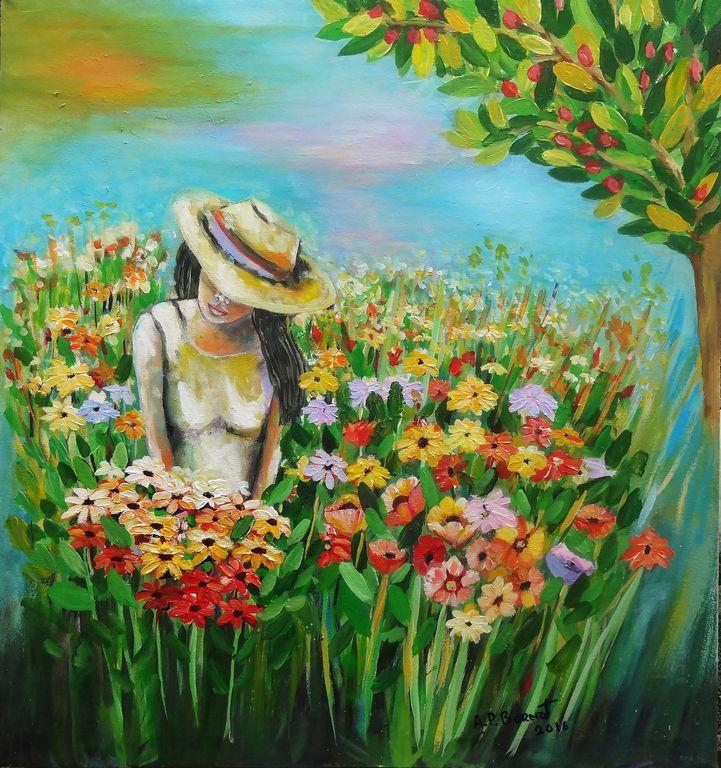 amanecer entre flores