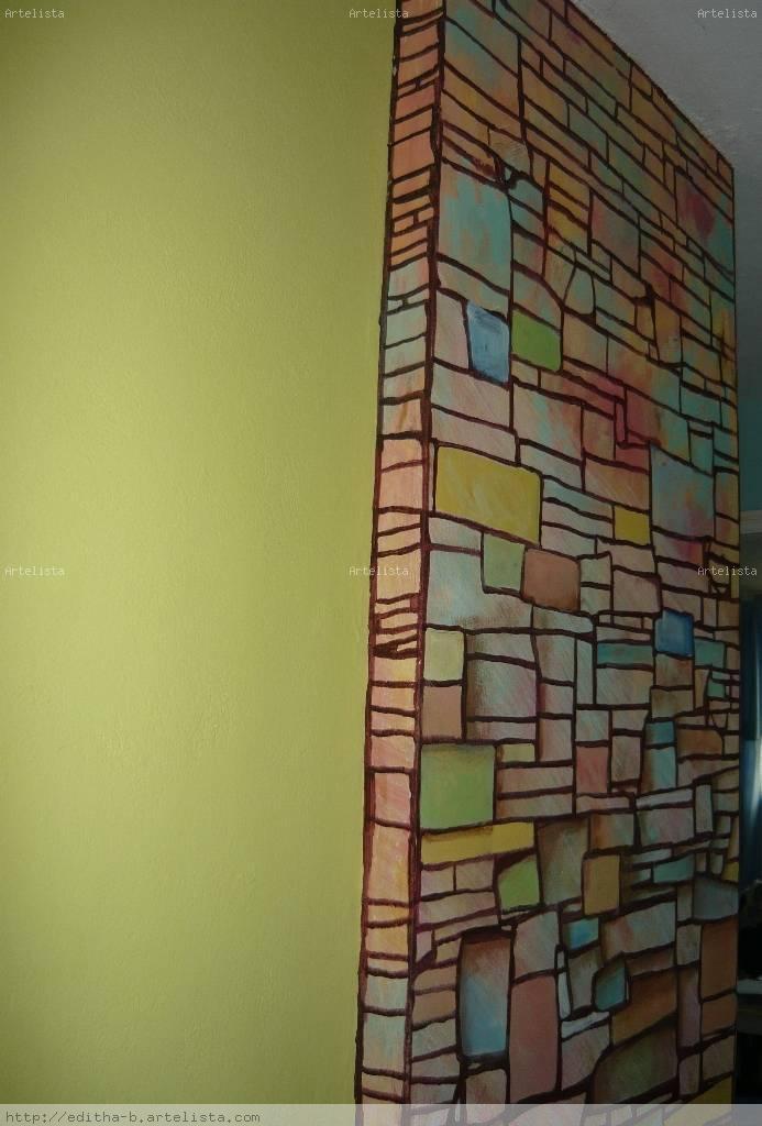 Ladrillos y piedras cortadas de colores editha bethancourt - Ladrillos de colores ...