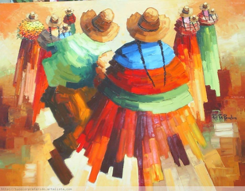 Baile tradicional reynaldo guillermo rivera rondon - Pinturas acrilicas modernas ...