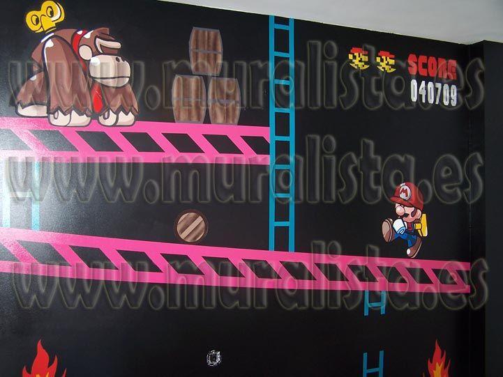 Mario Bros Mural Donkey Kong Www Muralista Es Alberto