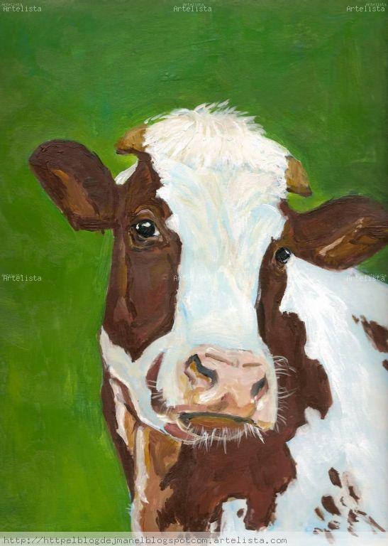 Vaca 3 josep manel mart g mez - Cuadros de vacas ...
