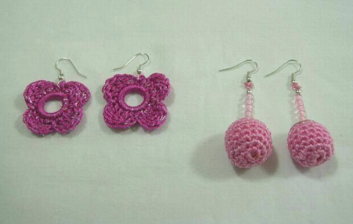 ca9f11511d0c Aretes tejidos en crochet Catherinne P. - Artelista.com