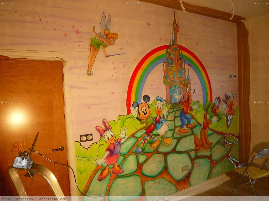 Se hacen murales infantiles y de dise o 2bis en murcia for Murales infantiles