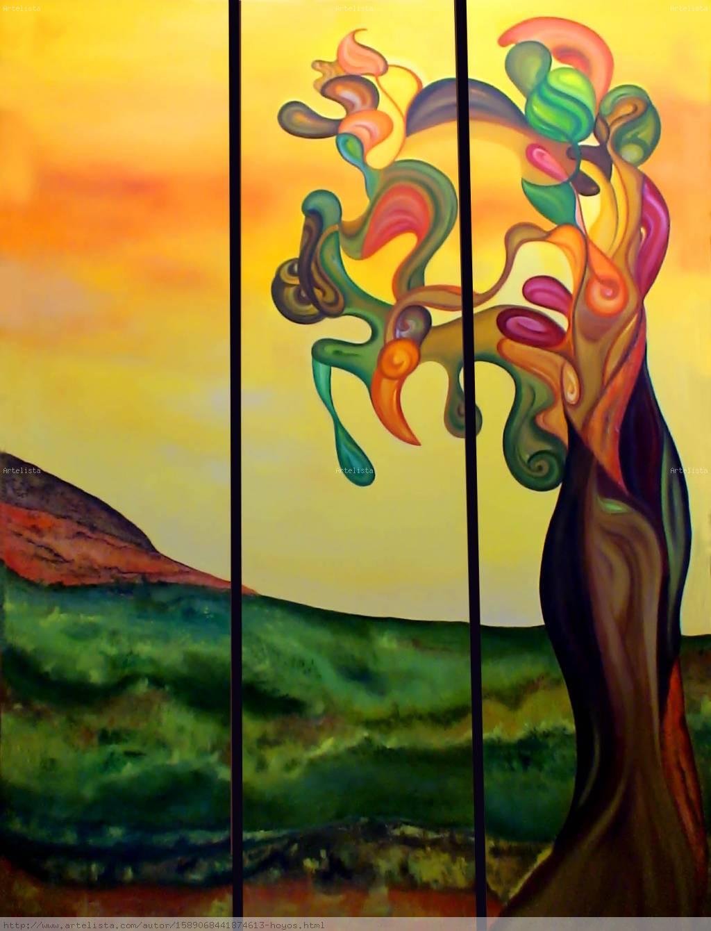 Arbol margarita hoyos for Fotos de cuadros abstractos sencillos