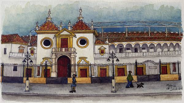 Plaza de toros de sevilla m nica de silva for Todo pintura sevilla