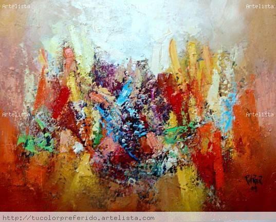 Ascendiendo abstracto wylly rondon - Pinturas acrilicas modernas ...