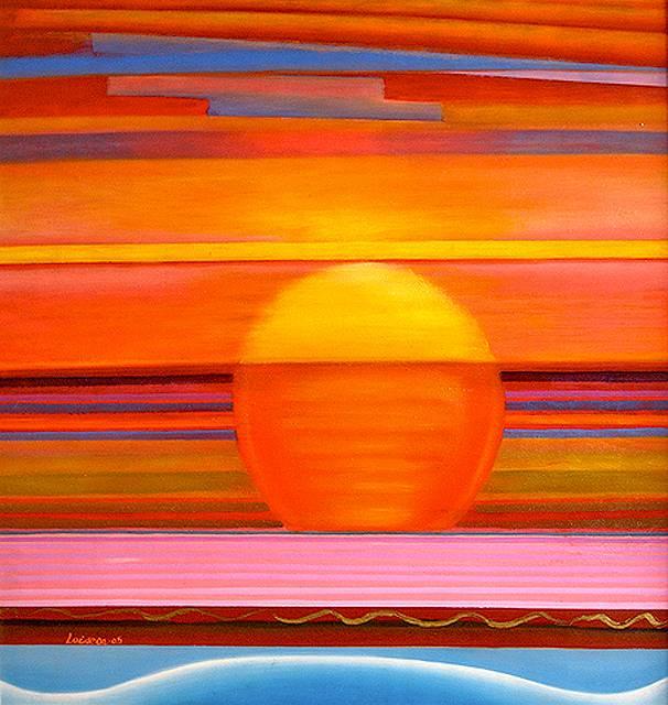 Atardecer ana peralta laiseca for Imagenes de cuadros abstractos geometricos