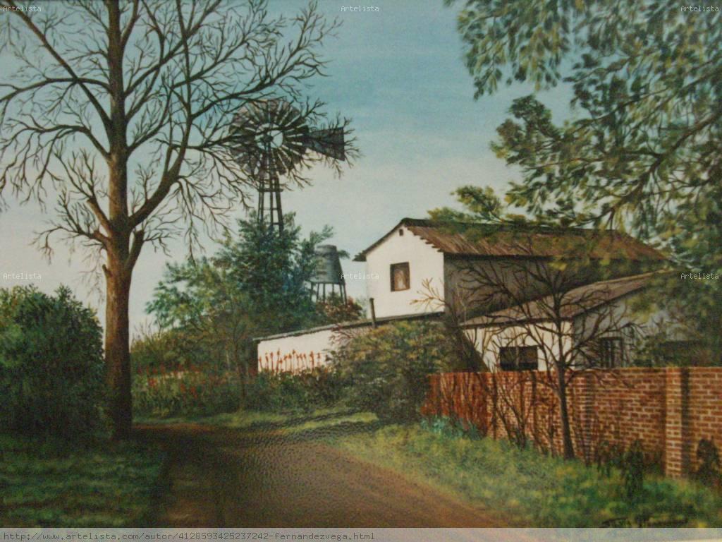 Casa de campo silvia graciela fernandez vega - Cuadros de casas de campo ...