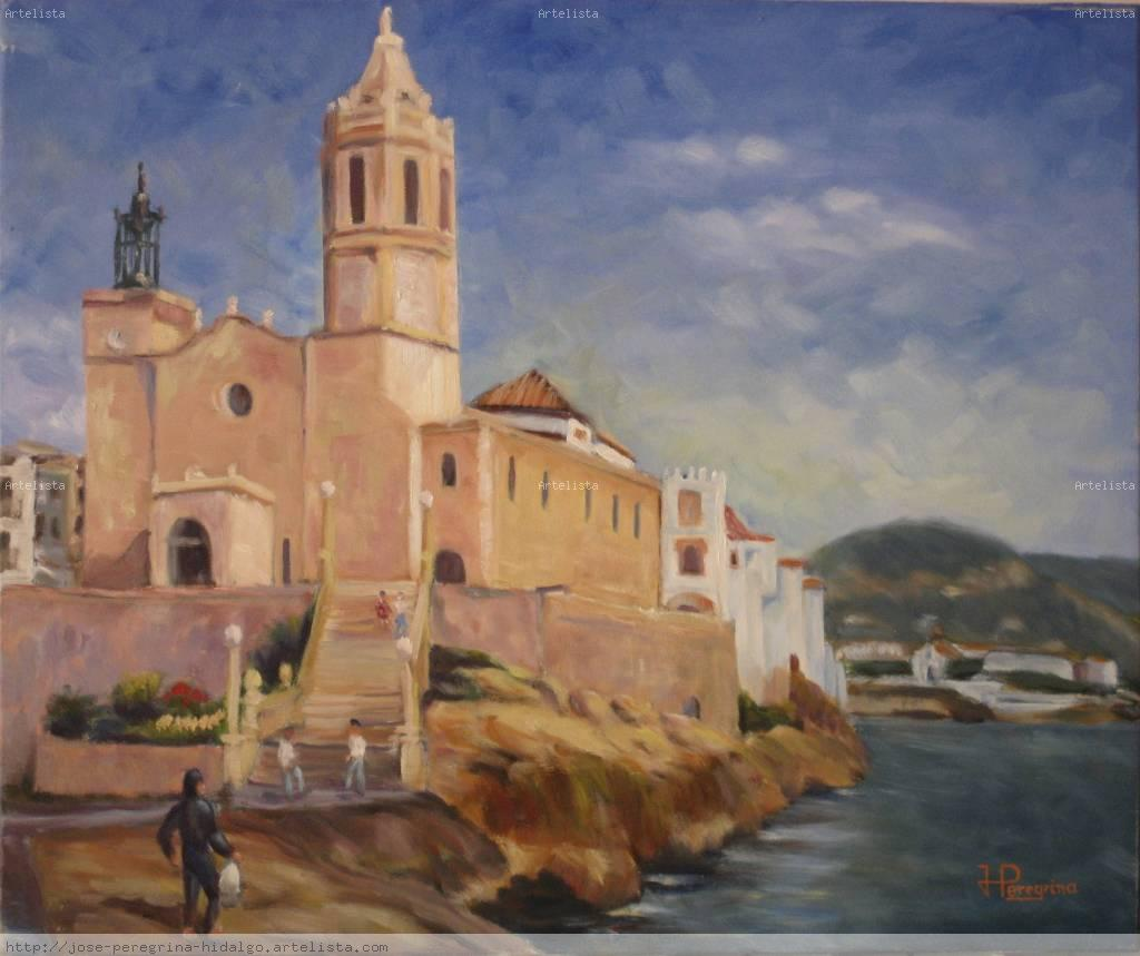 Iglesia de sitges jos peregrina hidalgo - Pintores de barcelona ...