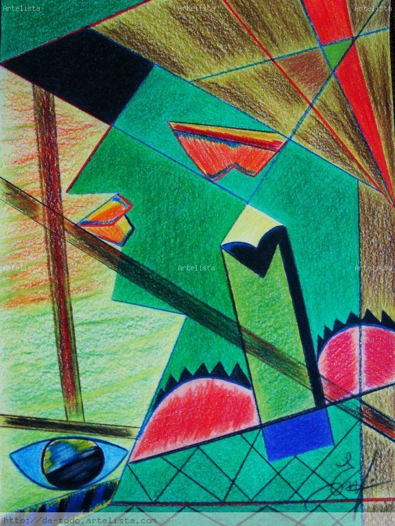 Dibujo abstracto. Trapecistas. Encarni Caamaño Alvez- Artelista.