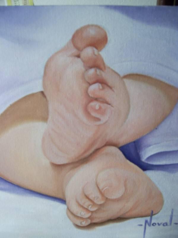Pies de bebe rosa maria noval - Cuadros de pies ...