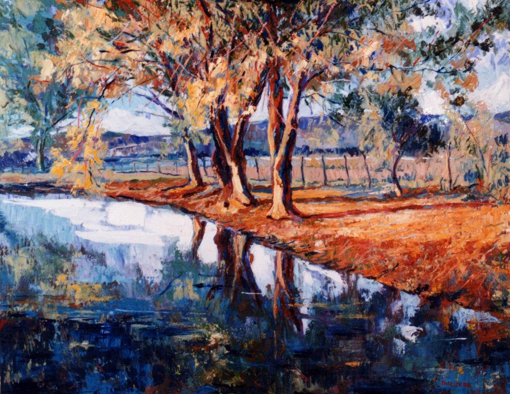 El estanque en oto o julio ducuron for Pintura para estanques