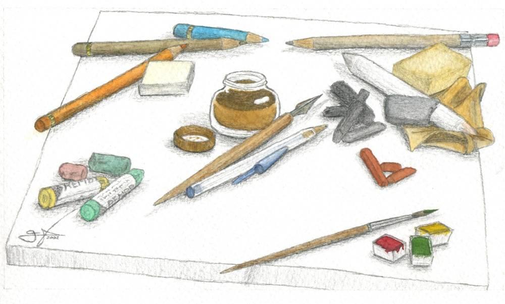 Materiales de dibujo y pintura 2 marcos v zquez gonz lez - Materiales de pintura de pared ...