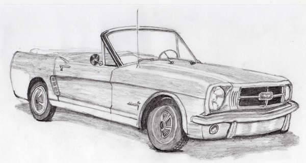 Dibujo de carros clasicos - Imagui