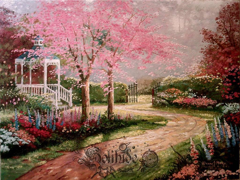 Jard n rom ntico alvaro v mingo for Jardines romanticos