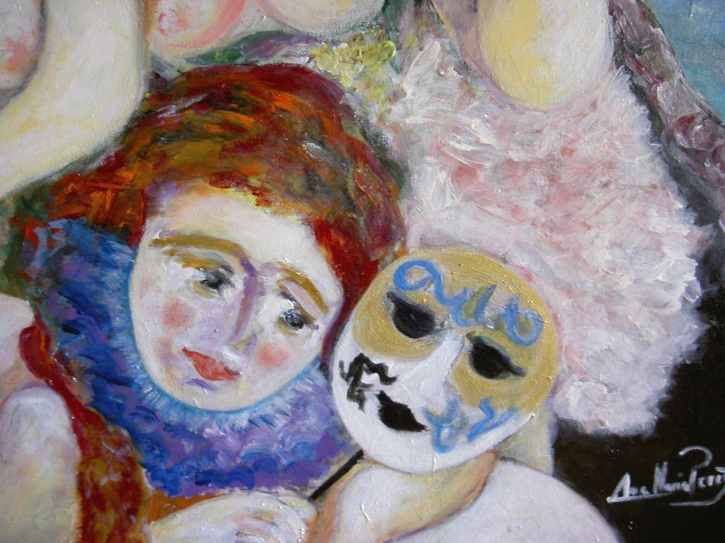 Ana Alonso Desnuda damas venecianas (detalle1) ana maria perez alonso