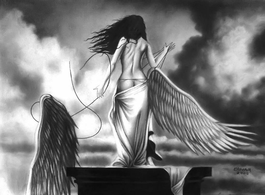 Celestial Desnudo De Mujer Angel EHIVAR FLORES HERRERA