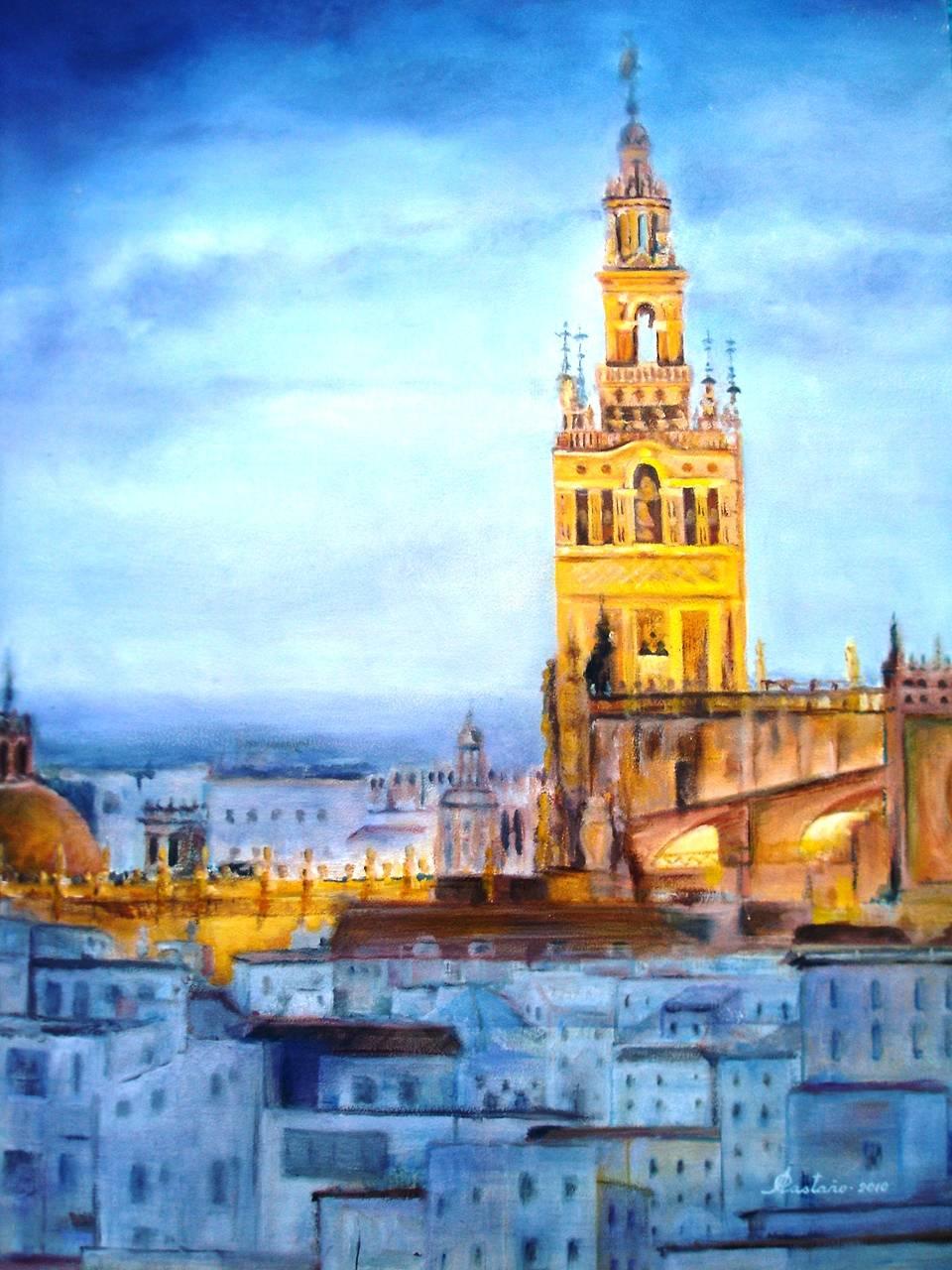 La catedral y la giralda de sevilla espa a angel for Todo pintura sevilla