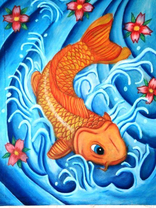 Mi pez koi joseph isambertt for Pintura para estanques de peces